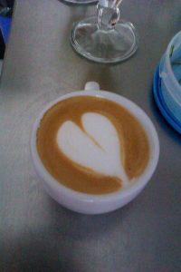 Latte Art, môj prvý obrázok :-)